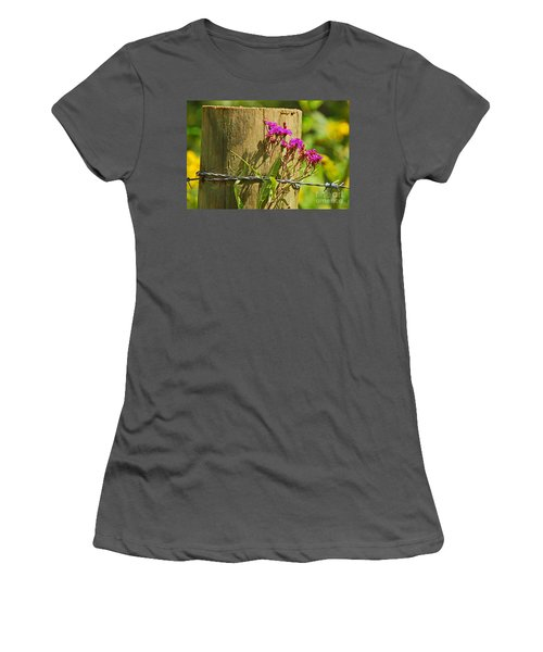 Behind The Fence Women's T-Shirt (Athletic Fit)