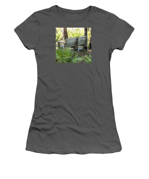 Bench In Nature Women's T-Shirt (Athletic Fit)