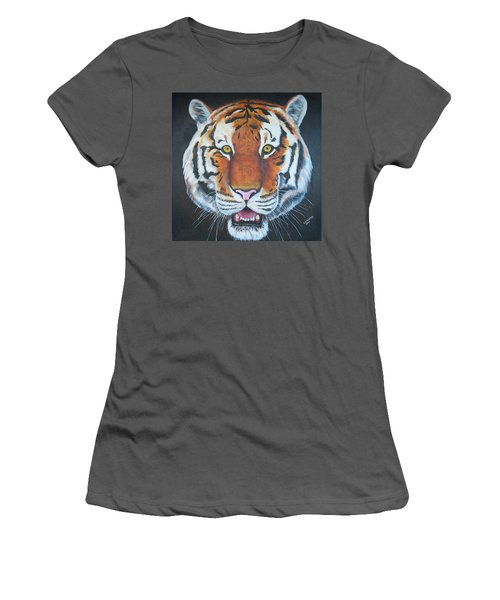 Women's T-Shirt (Junior Cut) featuring the painting Bengal Tiger by Thomas J Herring