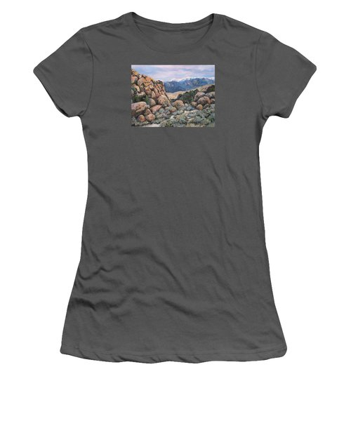 Women's T-Shirt (Junior Cut) featuring the painting Benton by Donna Tucker