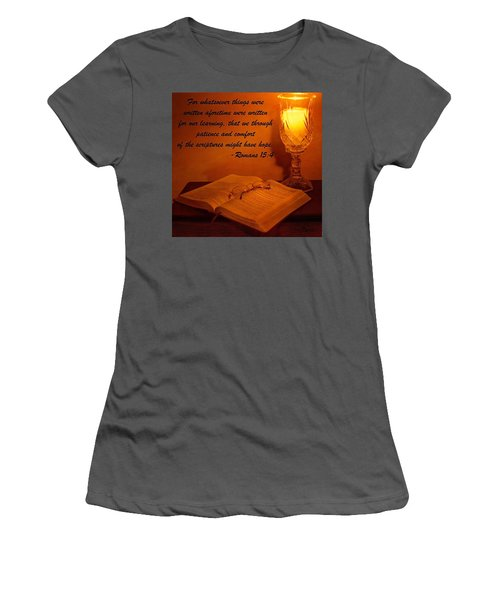 Bible By Candlelight Women's T-Shirt (Athletic Fit)