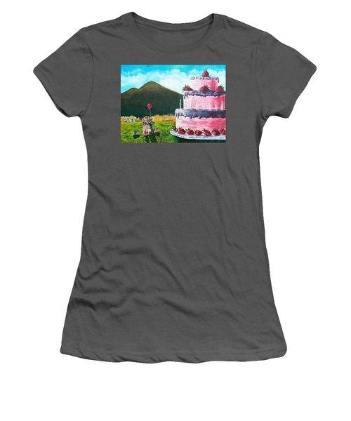 Big Birthday Surprise Women's T-Shirt (Athletic Fit)