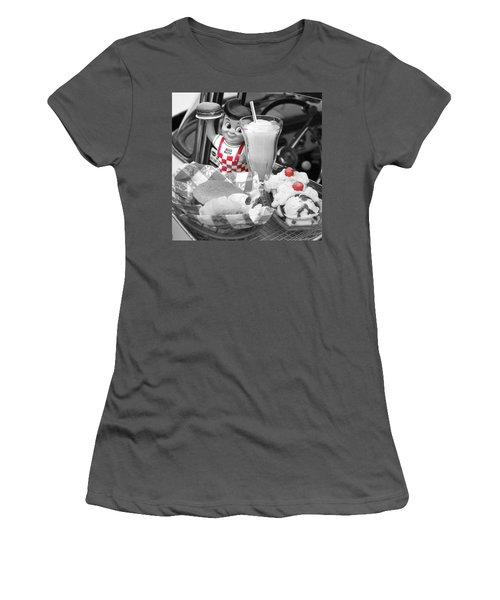 Big Boy In Black And White Women's T-Shirt (Junior Cut) by Sonya Lang