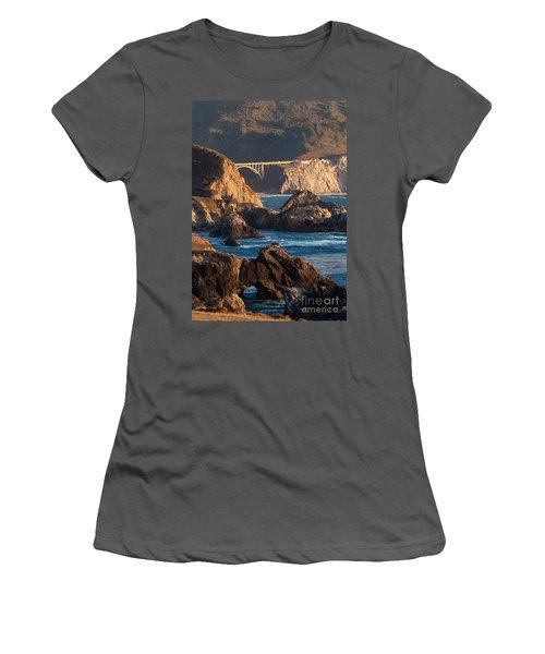 Big Sur Coastal Serenity Women's T-Shirt (Junior Cut) by Mike Reid