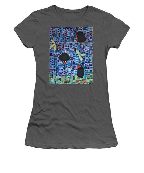 Bird Tricks Women's T-Shirt (Athletic Fit)