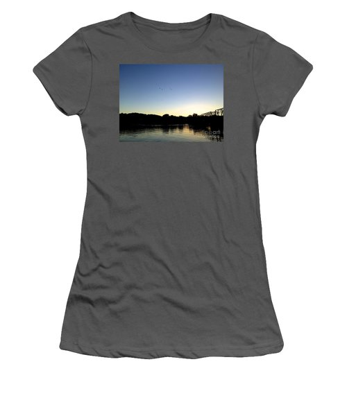 Birds And Blues Women's T-Shirt (Athletic Fit)