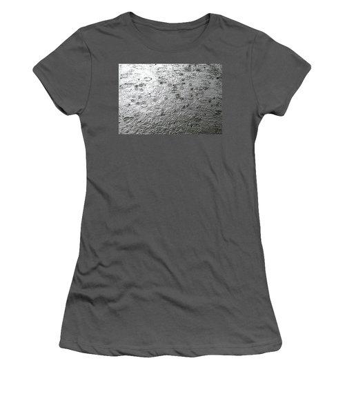 Black And White Rain Women's T-Shirt (Junior Cut) by Leena Pekkalainen
