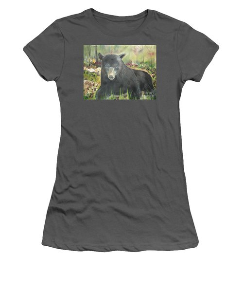 Women's T-Shirt (Junior Cut) featuring the painting Blackberry Scruffy 2 by Jan Dappen
