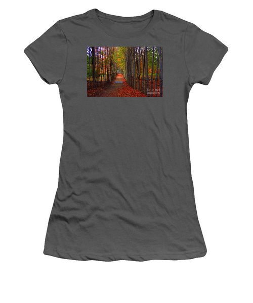 Blanket Of Red Leaves Women's T-Shirt (Athletic Fit)