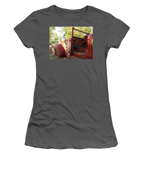 Blazing Red Fire Truck Women's T-Shirt (Athletic Fit)