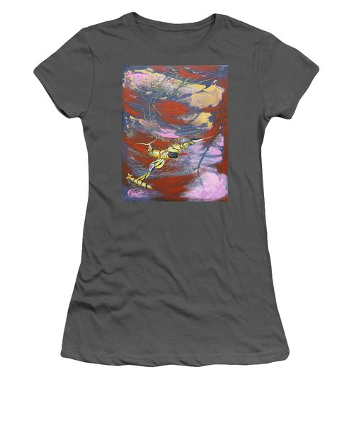 Blazing Starfighter Women's T-Shirt (Athletic Fit)
