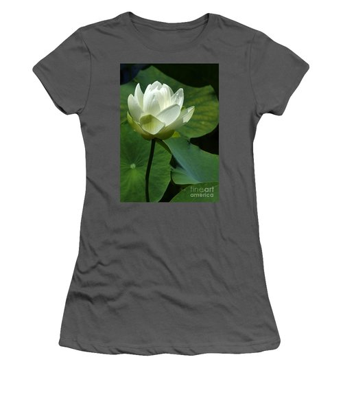 Blooming White Lotus Women's T-Shirt (Athletic Fit)