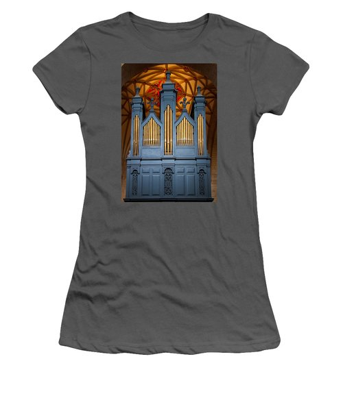 Blue And Gold Music Women's T-Shirt (Athletic Fit)
