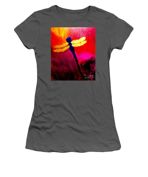 Blue Dragonfly No 2 Women's T-Shirt (Junior Cut) by Anita Lewis