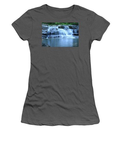 Blue Falls Women's T-Shirt (Athletic Fit)