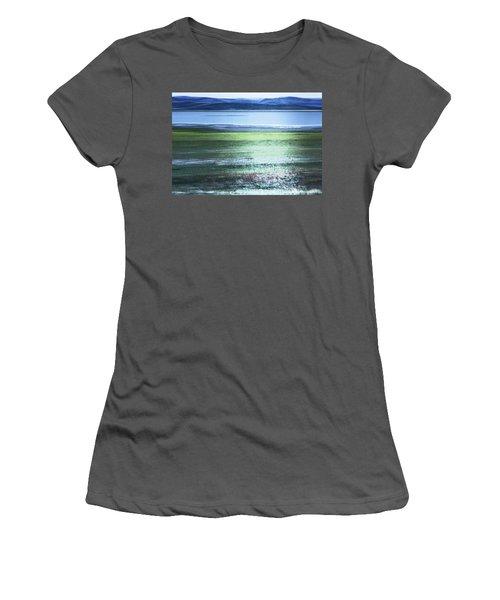 Blue Green Landscape Women's T-Shirt (Athletic Fit)
