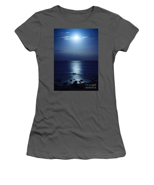Blue Moon Rising Women's T-Shirt (Athletic Fit)