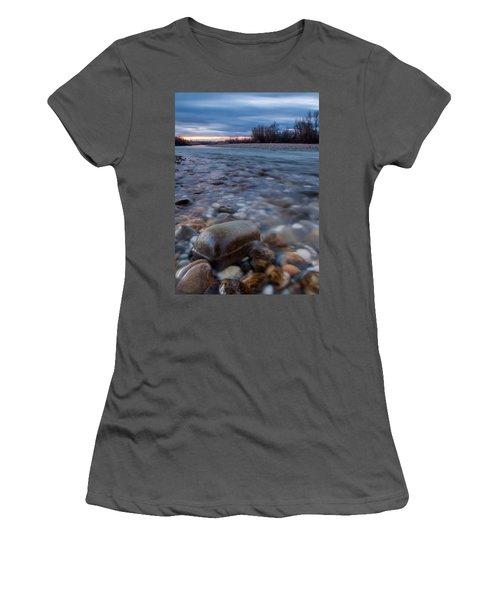 Women's T-Shirt (Junior Cut) featuring the photograph Blue Morning by Davorin Mance