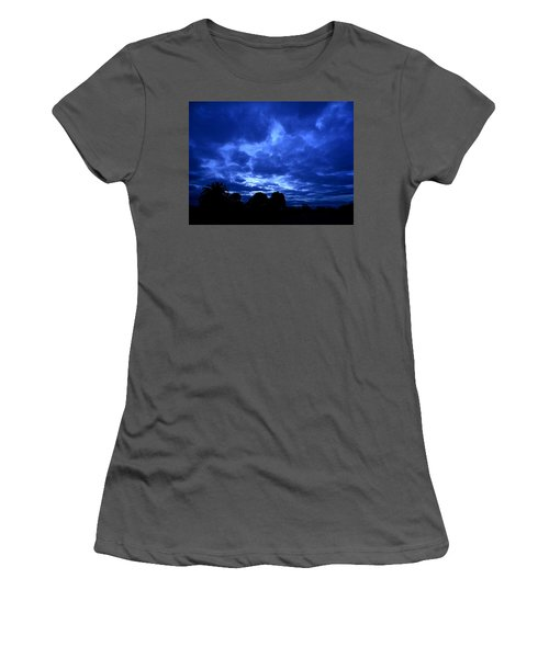 Blue Storm Rising Women's T-Shirt (Athletic Fit)