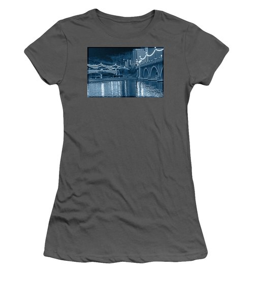 Blue Tempe Evening Women's T-Shirt (Athletic Fit)