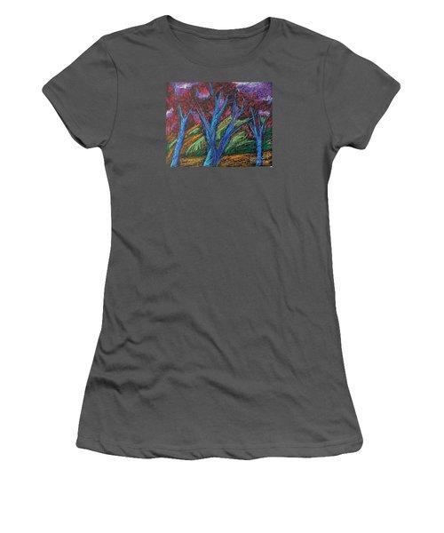Central Park Blue Tempo Women's T-Shirt (Athletic Fit)
