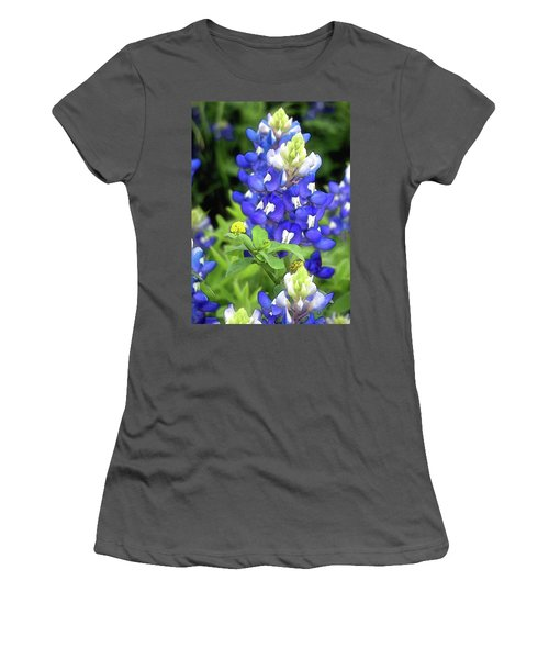 Bluebonnets Blooming Women's T-Shirt (Athletic Fit)