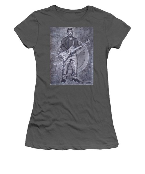 Bo Diddley - Have Guitar Will Travel Women's T-Shirt (Junior Cut) by Sean Connolly