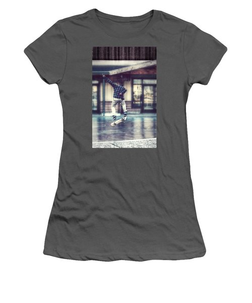 Women's T-Shirt (Junior Cut) featuring the photograph Boarder Bliss by Melanie Lankford Photography