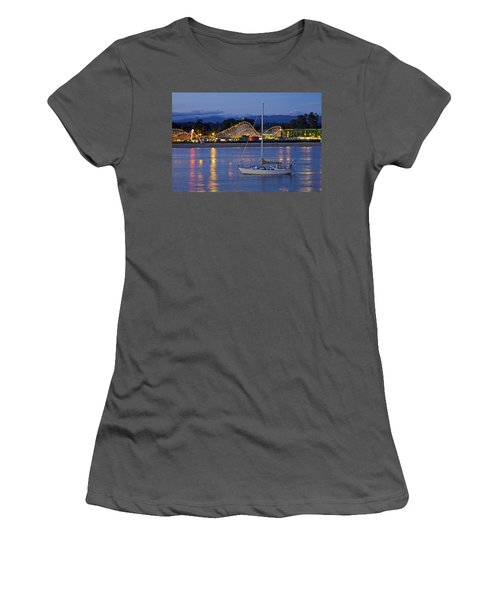 Boat At Twilight Women's T-Shirt (Athletic Fit)