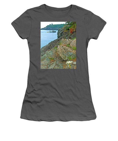 Boat By East Quoddy Bay On Campobello Island-nb Women's T-Shirt (Athletic Fit)