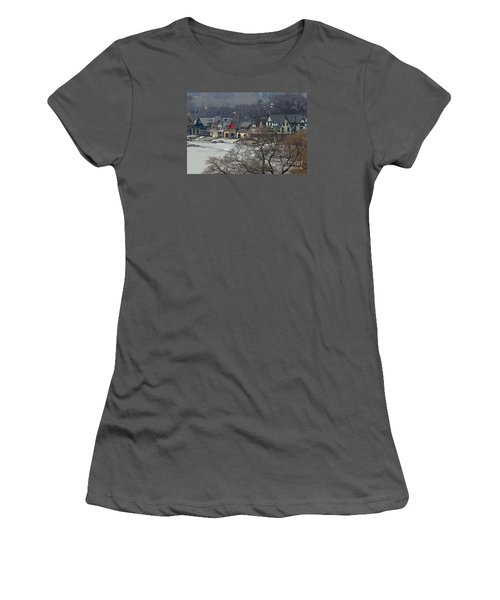 Philadelphia's Boat House Row  Women's T-Shirt (Junior Cut) by Cindy Manero