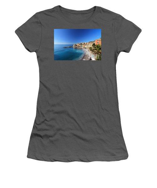 Bogliasco Village. Italy Women's T-Shirt (Athletic Fit)