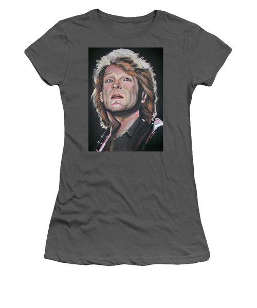 Bon Jovi Women's T-Shirt (Junior Cut) by Peter Suhocke