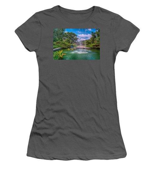 Botanical Garden Women's T-Shirt (Junior Cut) by Jonah  Anderson