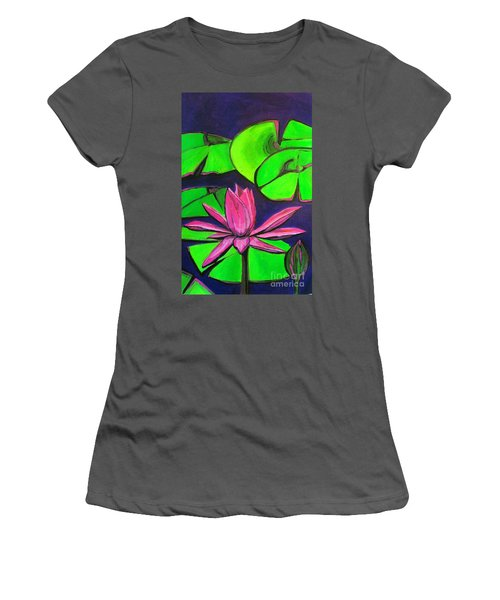 Botanical Lotus 1 Women's T-Shirt (Athletic Fit)
