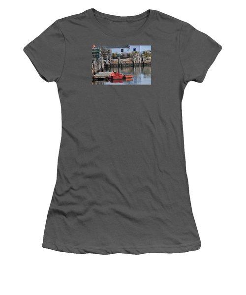 Bradley Wharf Dinghies Women's T-Shirt (Junior Cut) by Mike Martin