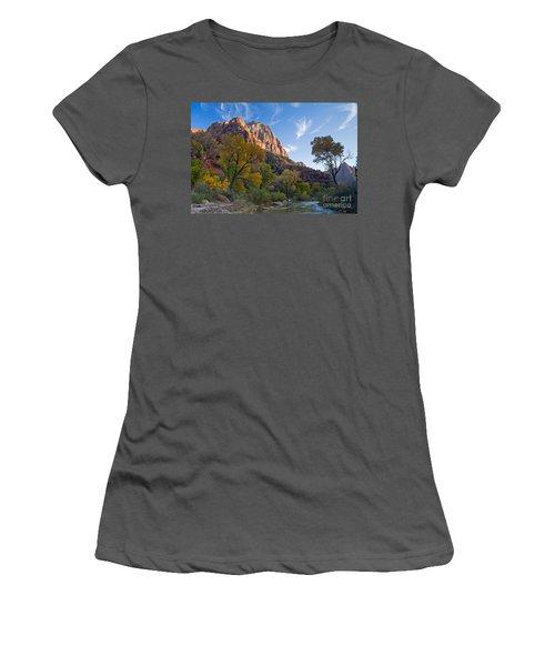 Bridge Mountain Women's T-Shirt (Athletic Fit)
