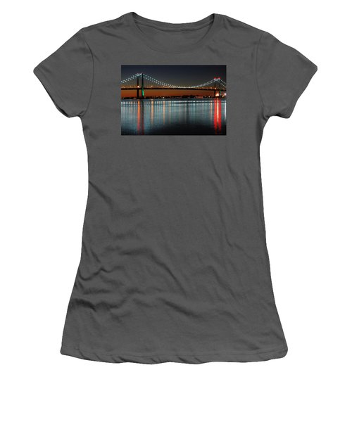 Women's T-Shirt (Junior Cut) featuring the photograph Suspended Reflections by James Kirkikis