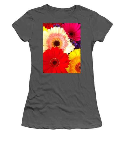 Brightly Colored Gerbers Women's T-Shirt (Athletic Fit)