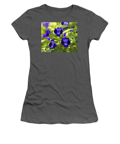 Brilliant Blues  Women's T-Shirt (Athletic Fit)