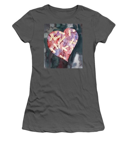 Broken Heart Women's T-Shirt (Athletic Fit)
