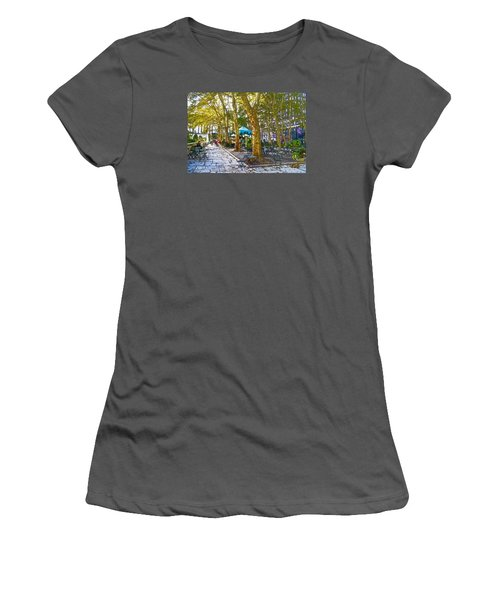 Bryant Park October Women's T-Shirt (Junior Cut) by Liz Leyden