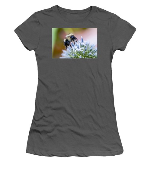 Bumblebee On Thistle Blossom Women's T-Shirt (Athletic Fit)