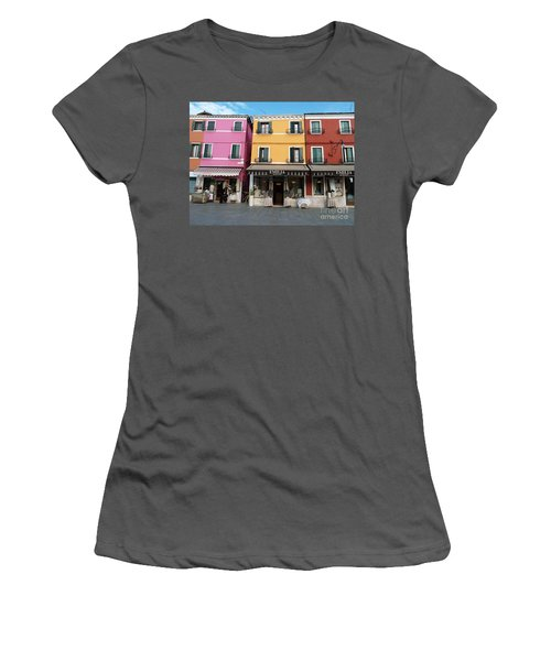 Women's T-Shirt (Junior Cut) featuring the painting Burano by Robin Maria Pedrero