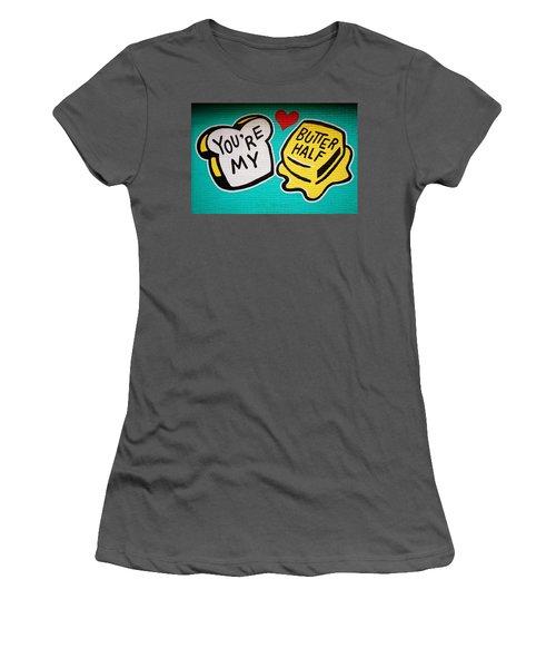 Butter Half Women's T-Shirt (Athletic Fit)