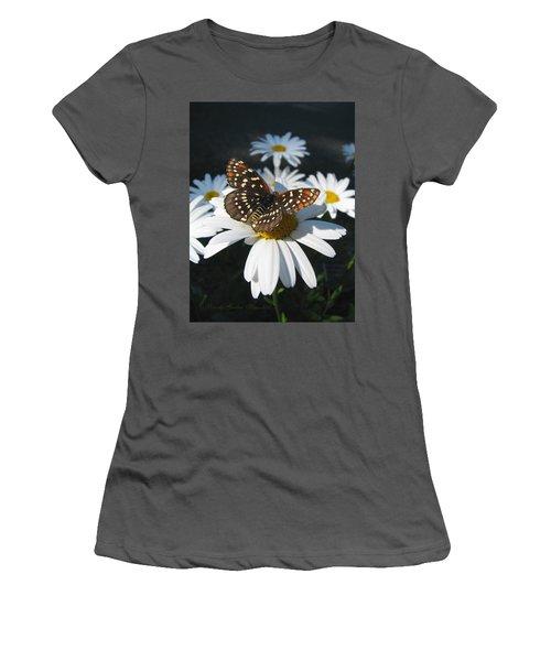 Butterfly And Shasta Daisy - My Spring Garden Women's T-Shirt (Junior Cut) by Brooks Garten Hauschild