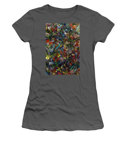Women's T-Shirt (Junior Cut) featuring the photograph Butterfly Collage by Robert Meanor