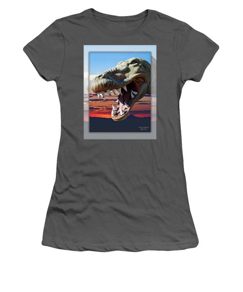 Cabazon Dinosaur Women's T-Shirt (Athletic Fit)