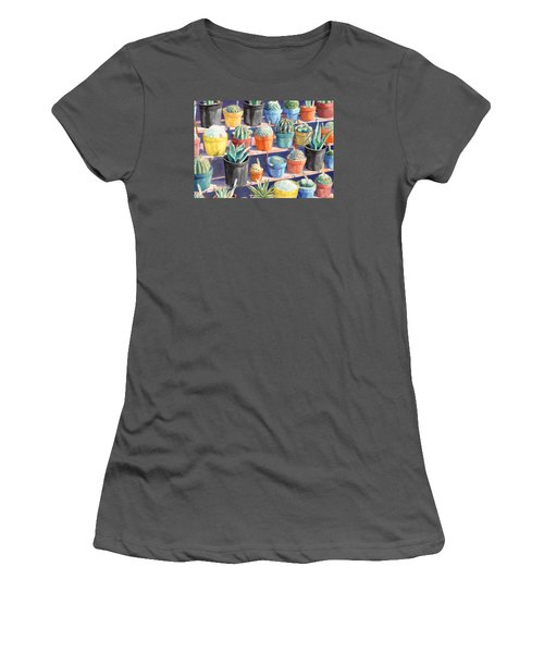 Cacti Chorusline Women's T-Shirt (Athletic Fit)