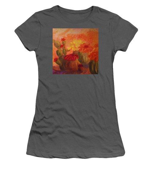 Cactus Garden - Square Format Women's T-Shirt (Athletic Fit)
